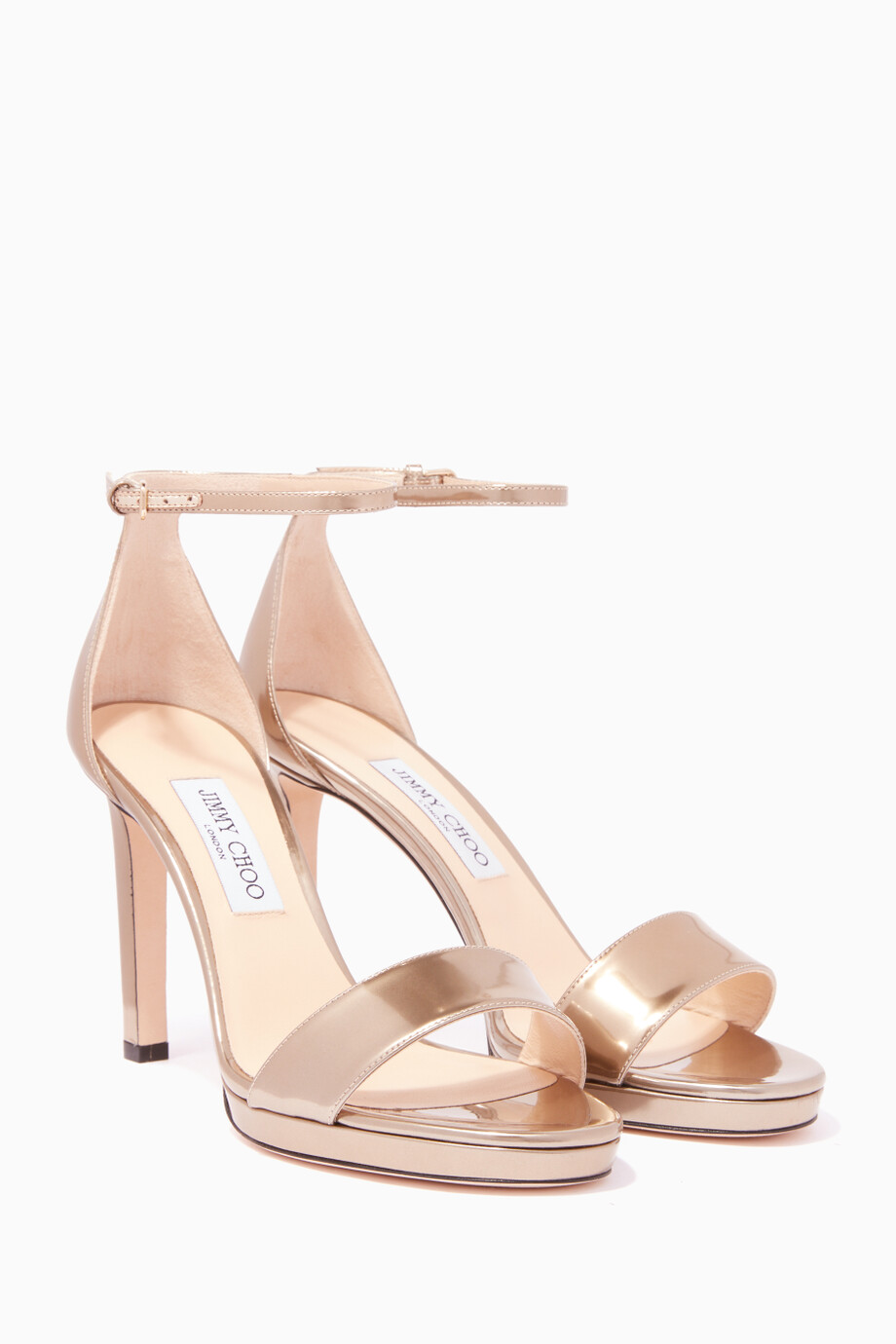 7a15b34dada Shop Jimmy Choo Gold Liquid-Gold Misty 100 Platform Sandals for ...