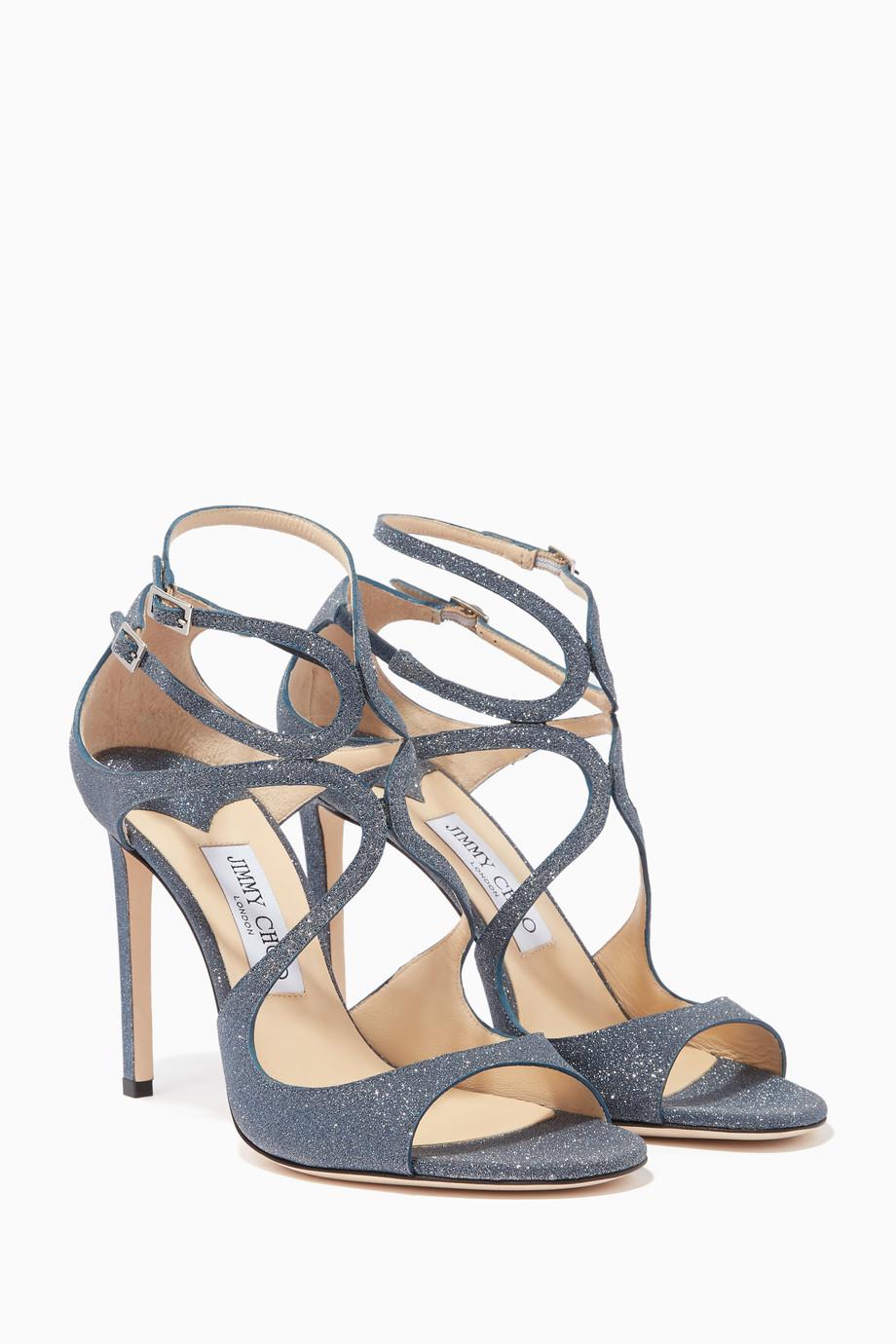 64747fc6dd4 Shop Jimmy Choo Blue Navy Lang 100 Sandals for Women