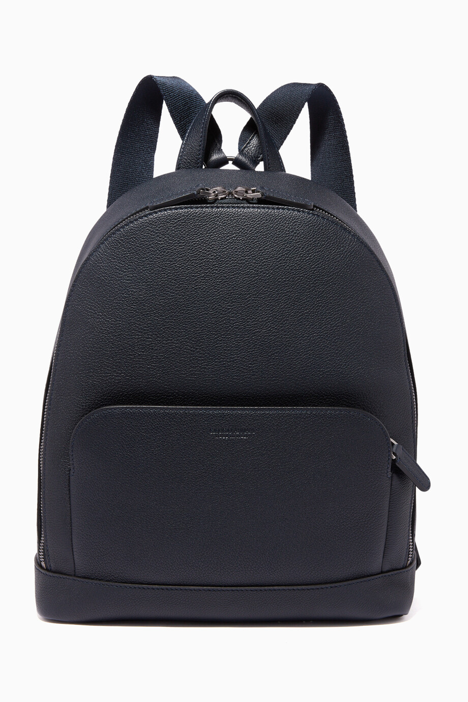 c1ab0ec3bd Shop Giorgio Armani Blue Textured-Leather Business Backpack for Men ...