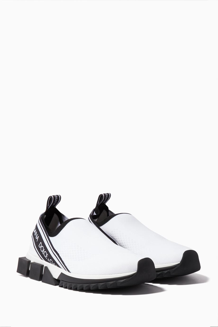 c5b0ab384 تسوق حذاء سنيكرز سورنتو بشعار العلامة أبيض Dolce & Gabbana ابيض ...