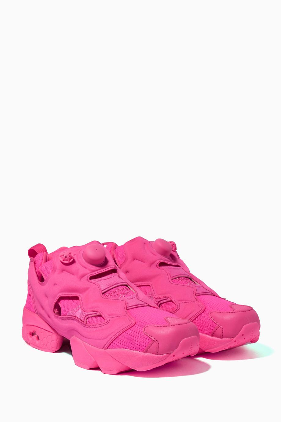 4caa7347f تسوق حذاء سنيكرز إنستابامب فيوري فيتيمنتس X ريبوك وردي فاقع فيتيمنتس ...