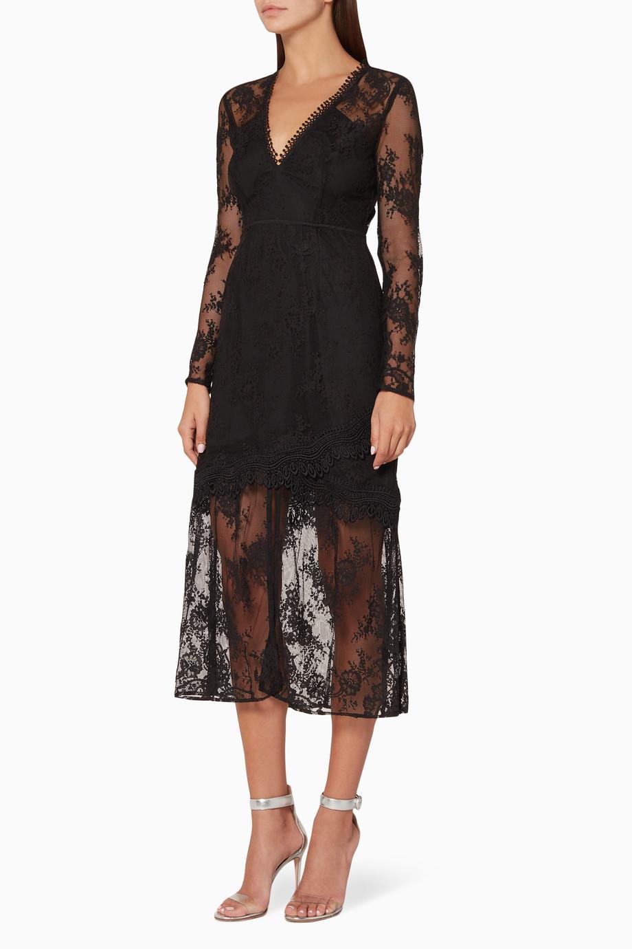13ee2ff0a1d Shop La Maison Talulah Black Black True Chemistry Bodycon Dress ...
