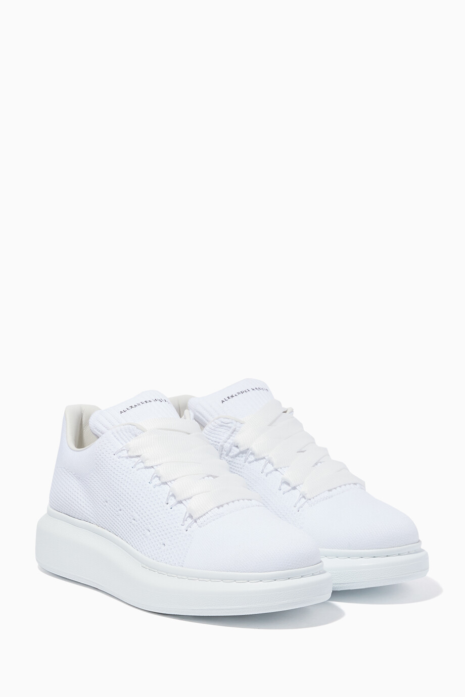 Shop Alexander McQueen White White Knitted Oversized ...