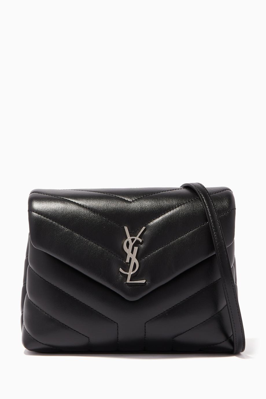 ac10bab2ab5e Shop Saint Laurent Black Black Loulou Leather Strap Wallet for Women ...