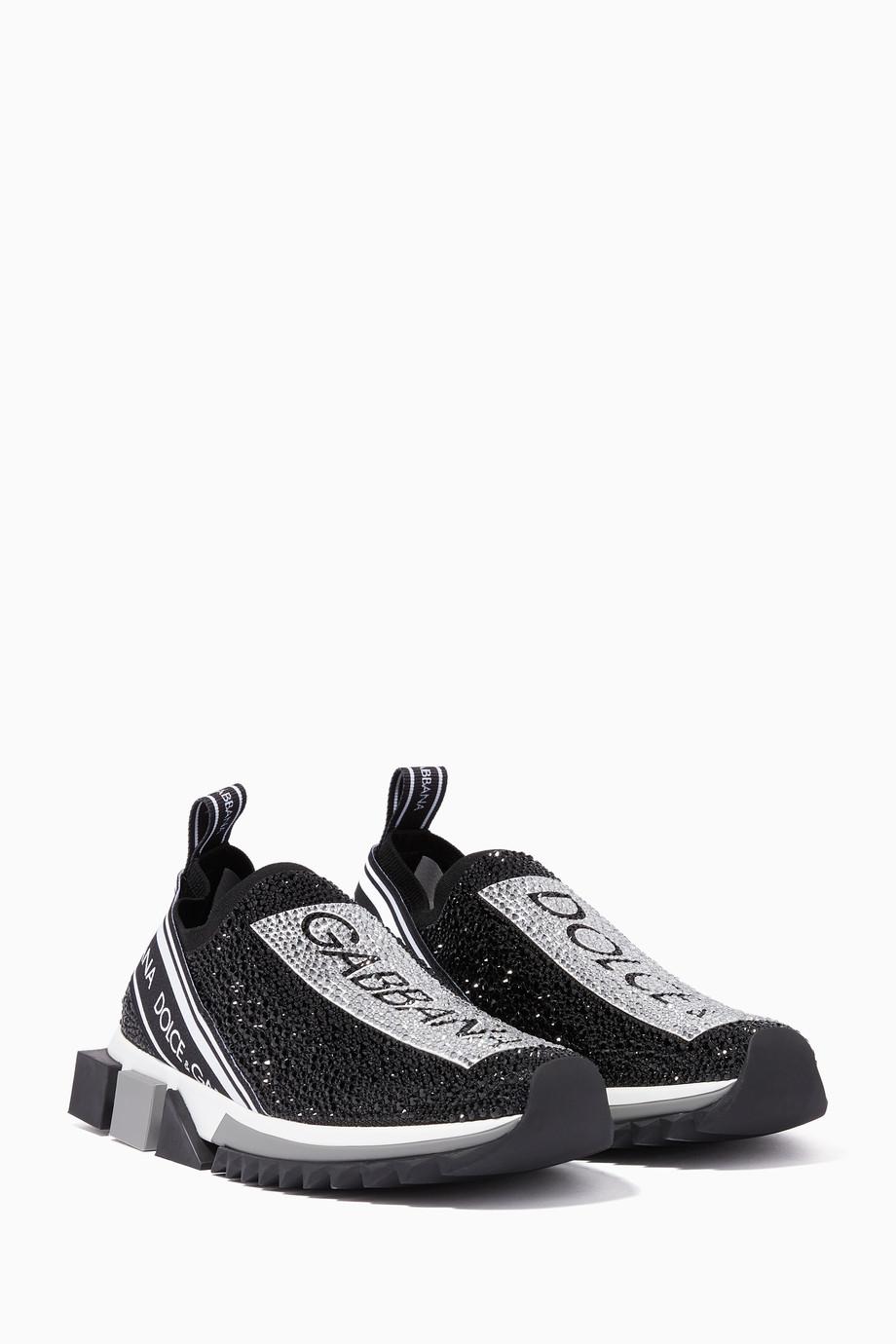 c673d93a0 Shop Dolce & Gabbana Black White & Black Sorrento Crystal ...