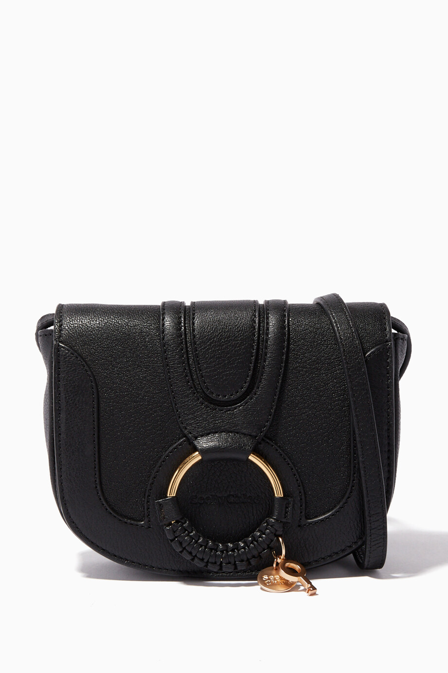 769a3a9e408 Shop See By Chloé Black Black Small Hana Shoulder Bag for Women ...