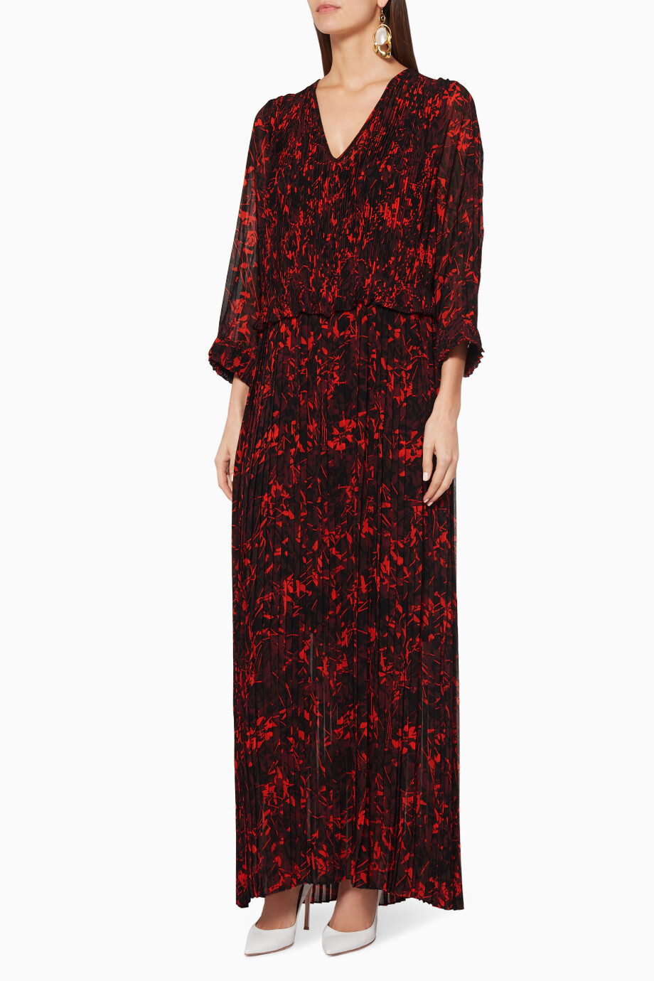 6b84aa14039 Shop By Malene Birger Multicolour Red & Black Printed Midotter Maxi ...