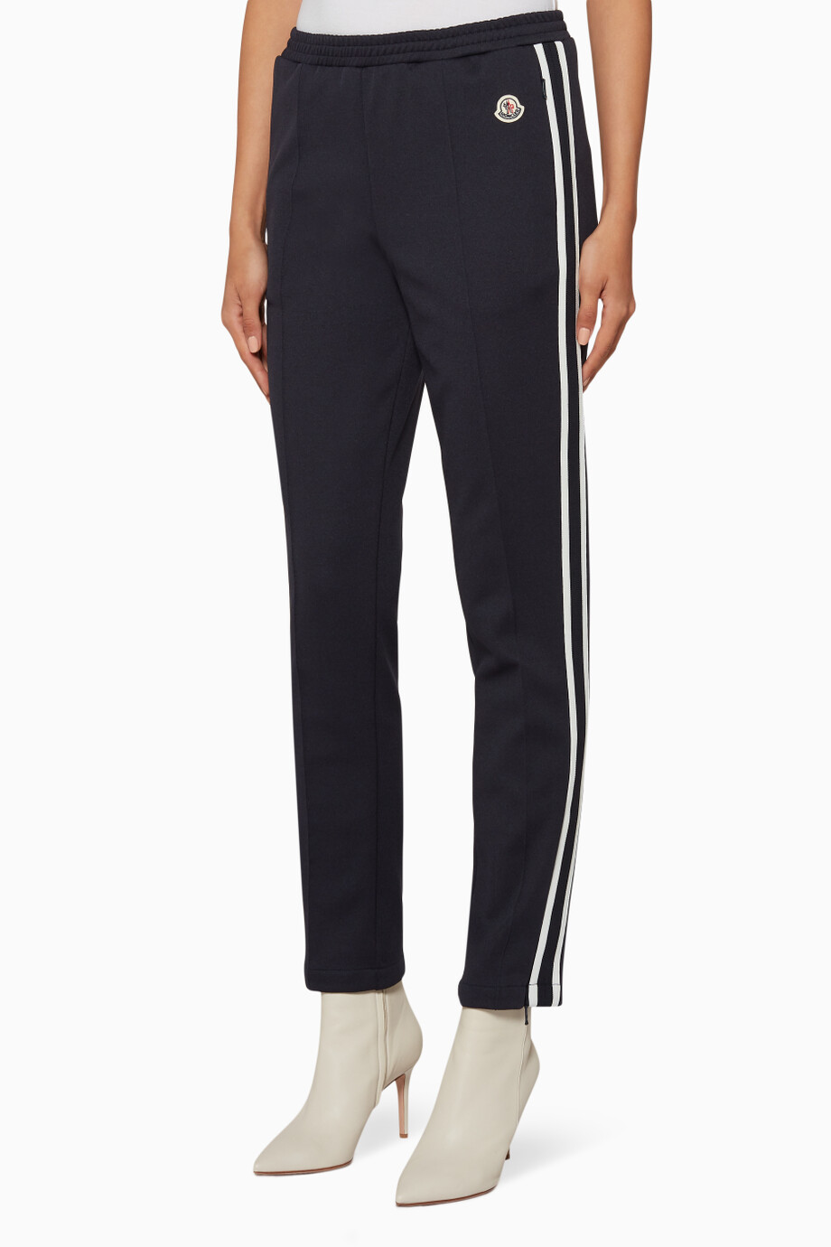 78723b27c73a36 Shop Moncler Blue Navy Side-Striped Track Pants for Women | Ounass UAE