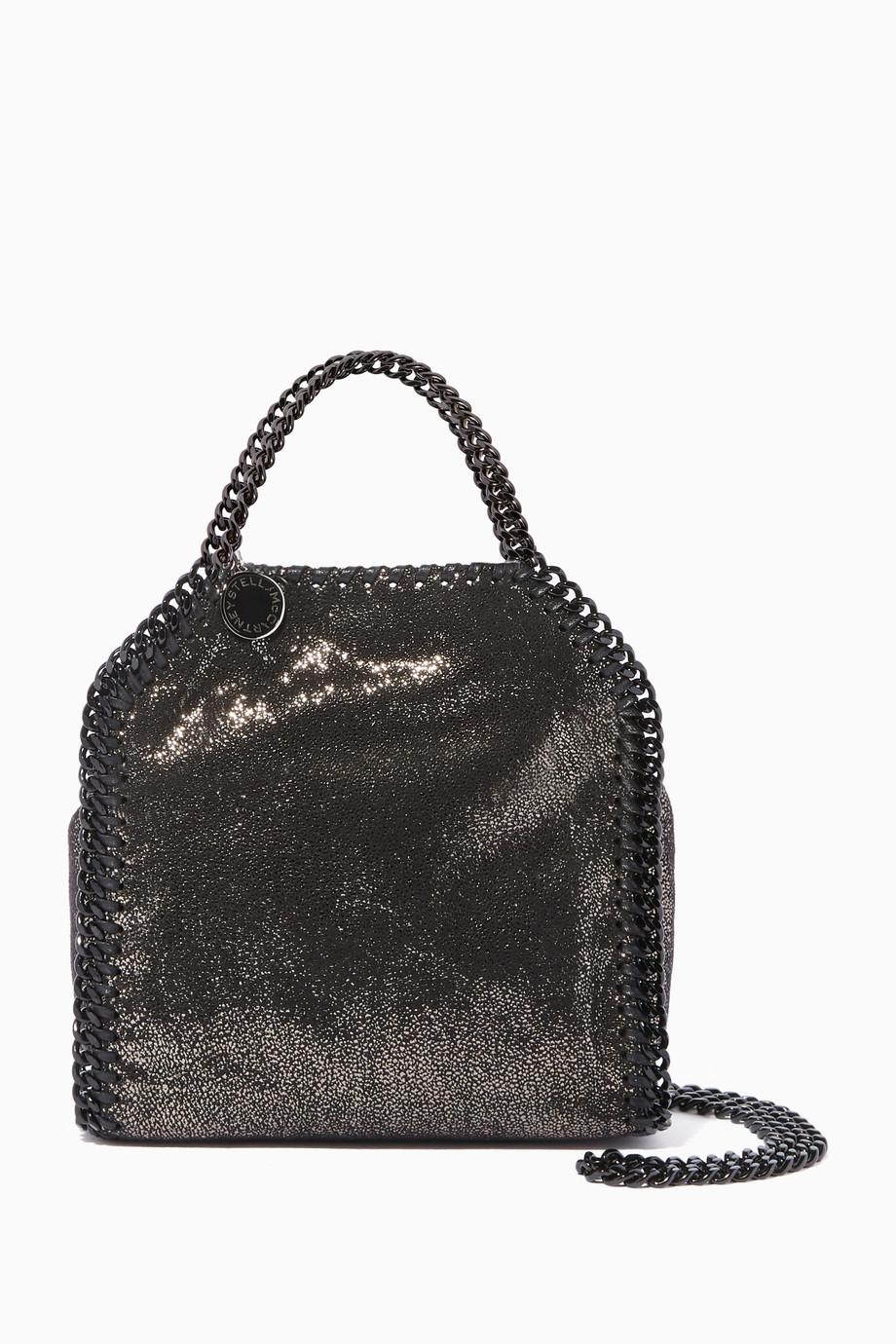 0b2450f8d7ef7 تسوق حقيبة فالابيلا كروس شمواه صغيرة سوداء Stella McCartney أسود ...