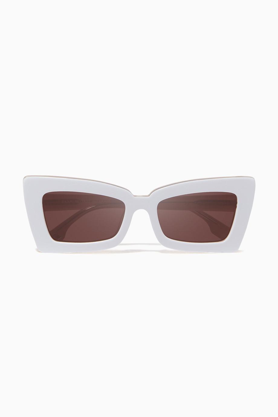 9aeb4b00df Shop Le Specs White White Zaap Sunglasses for Women