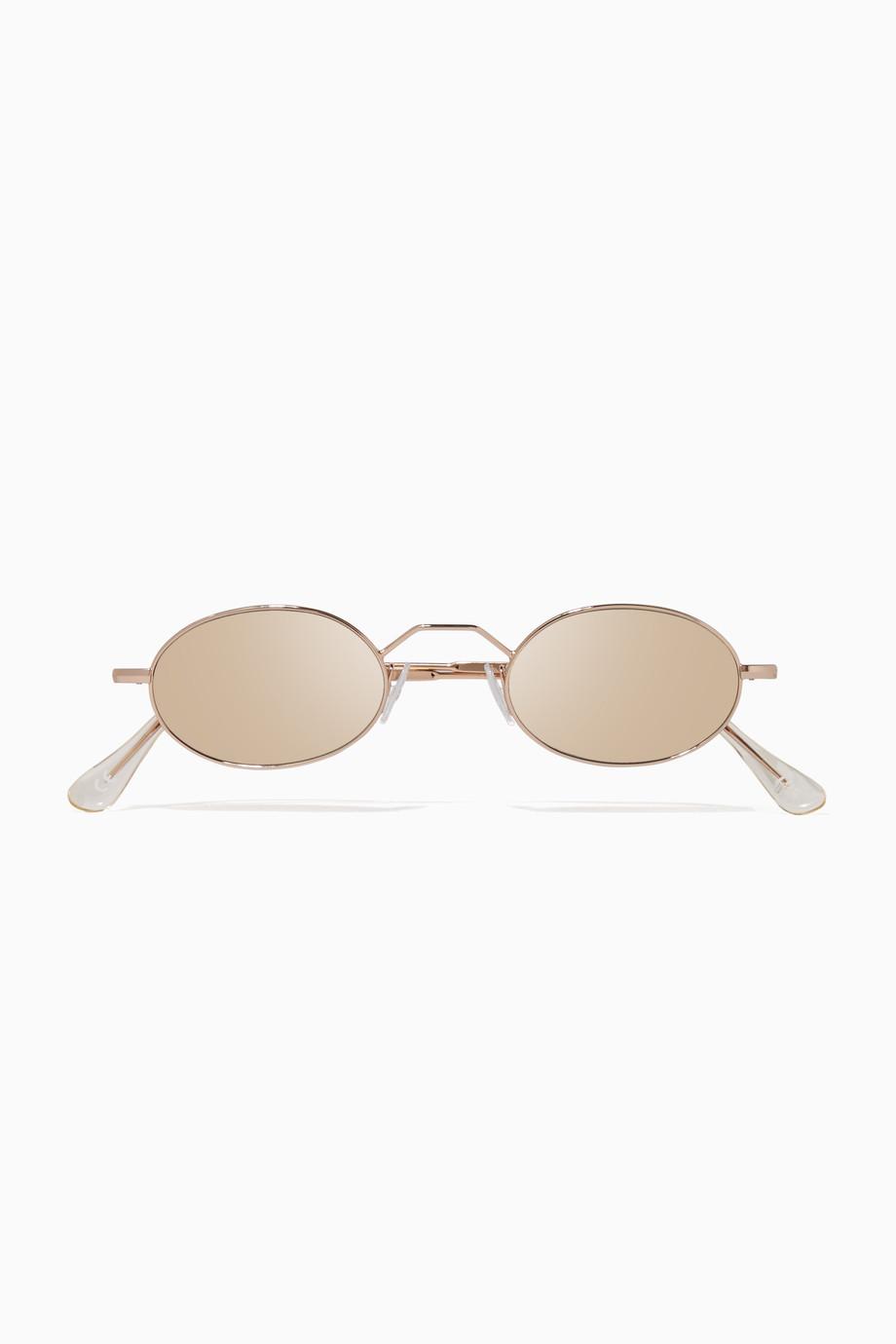 eae5f6b25 تسوق نظارة شمسية أرمسترونغ بعينين بيضاويتين باللون الذهبي اندي وولف ...