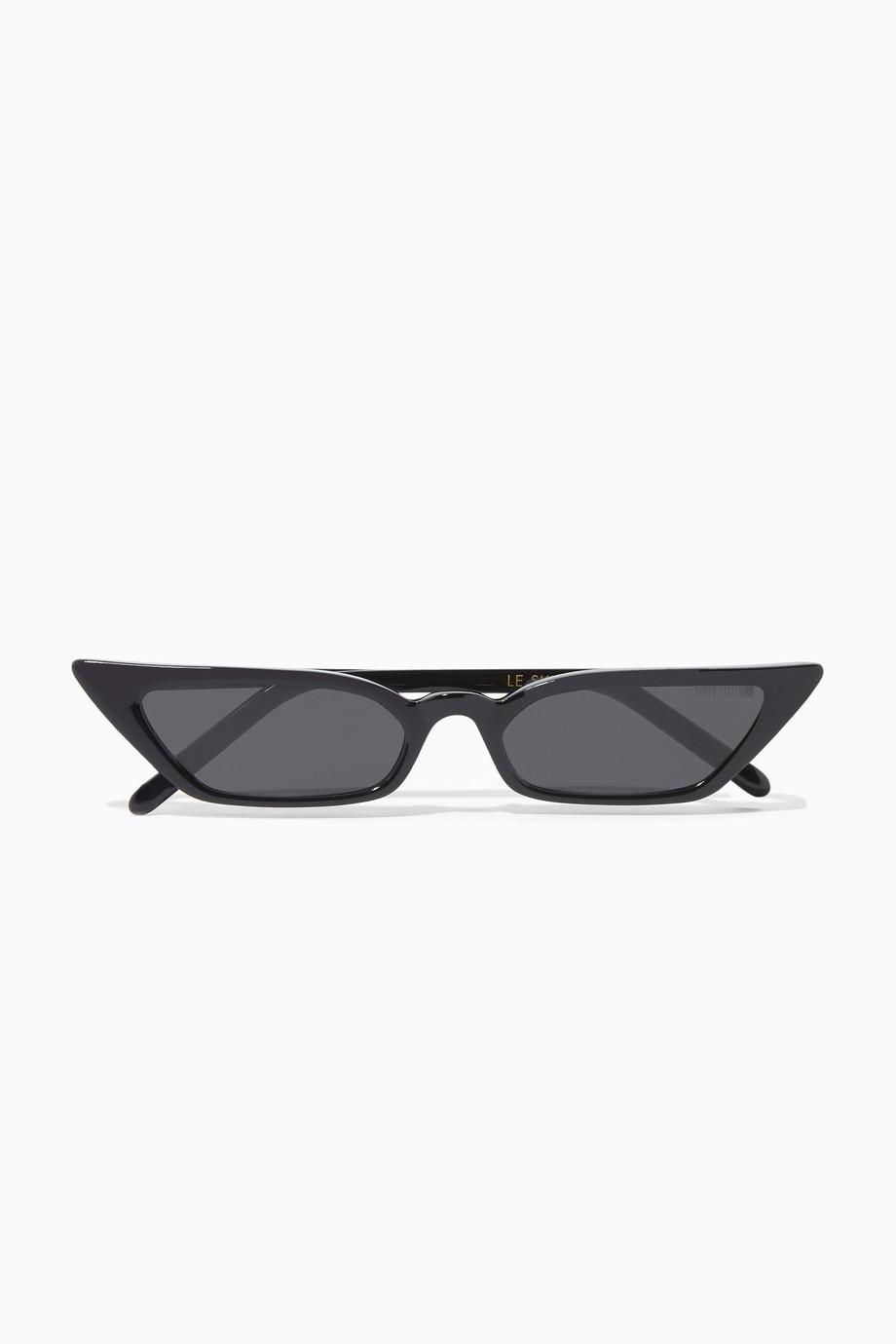 b5319c6a60 Shop Poppy Lissiman Black Black Le Skinny Sunglasses for Women ...