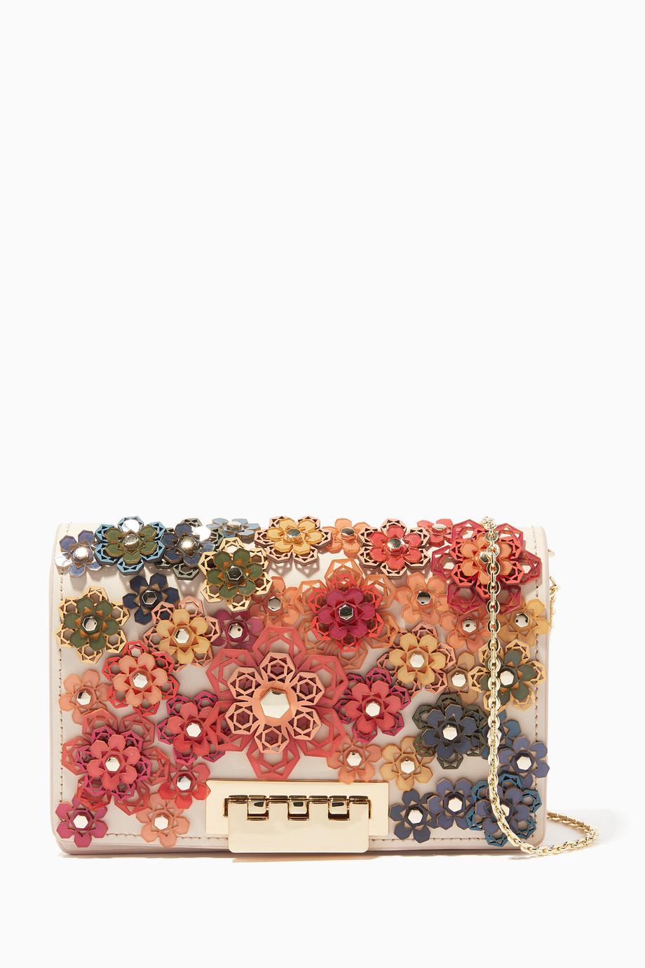 c64d89081c1 Shop ZAC Zac Posen Multicolour Cream Floral Earthette Accordion ...