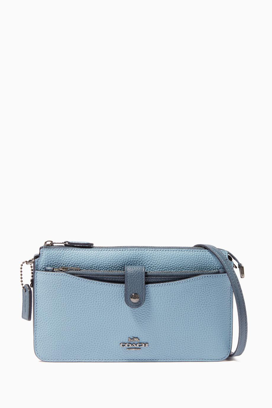 928da2e9cbb08 تسوق حقيبة مسنجر بزر كبس مقسمة بألوان كوتش لون طبيعى للنساء