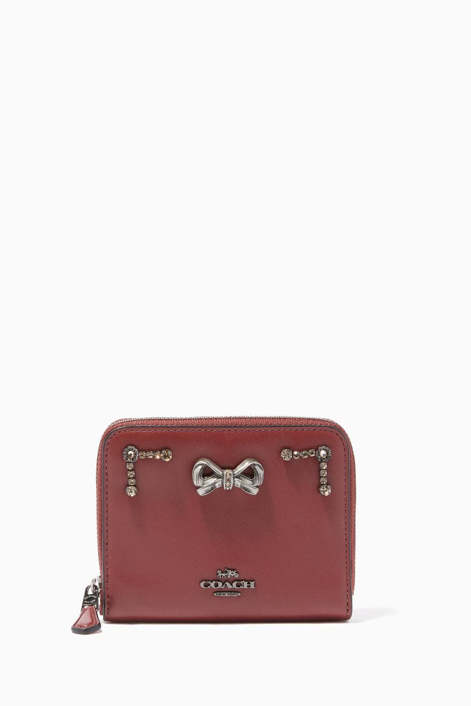 f899f333f201 Coach X Selena Gomez Crystal-Embellished Selena Small Zip-Around Wallet ...