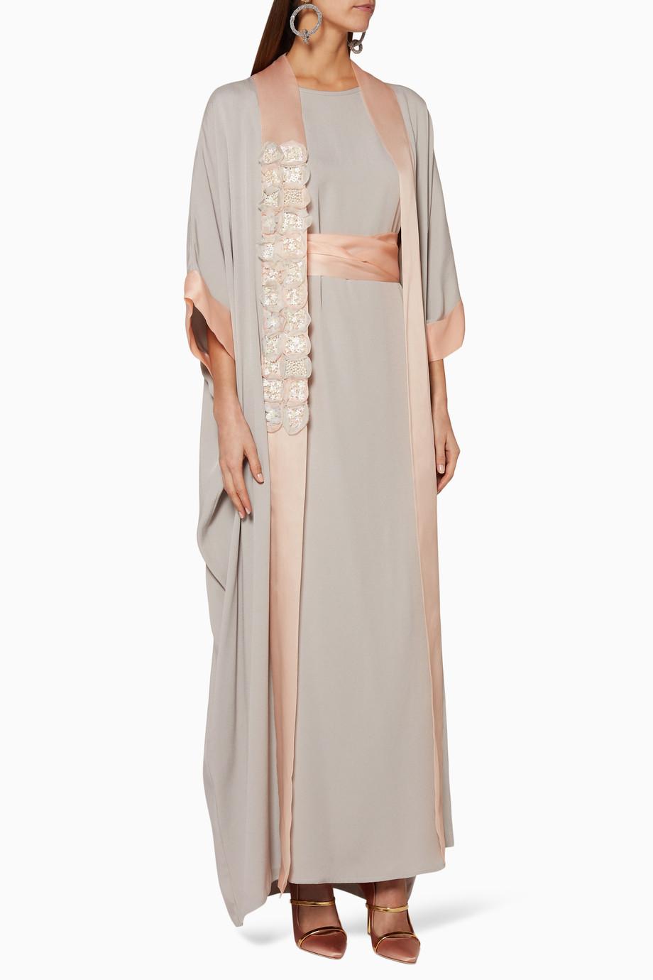02819ae976 Shop Dreema By Huda AlSuhaim Blue Grey   Blush Floral ...