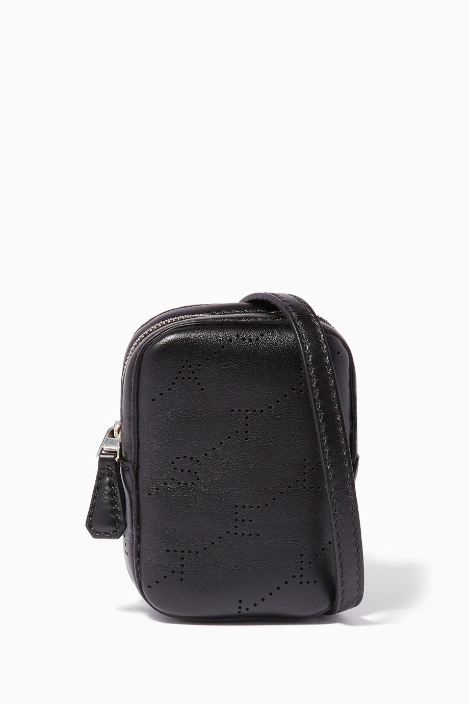 2ff24a0a28452 تسوق حقيبة كروس فلايت صغيرة سوداء ستيلا مكارتني أسود للنساء