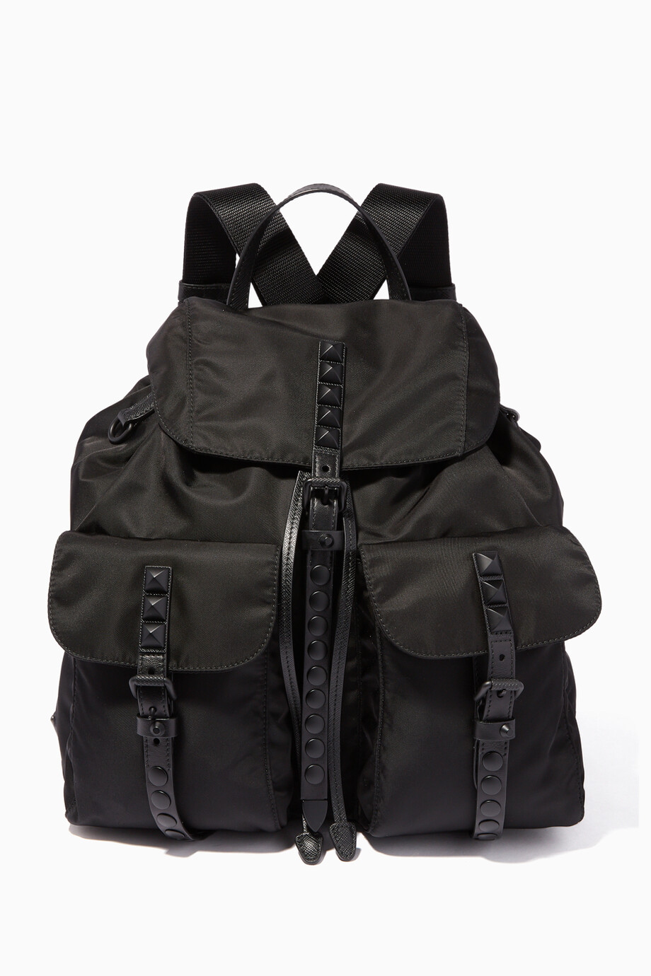 012c1fcae535 Shop Prada Black Black Medium Vela Nylon Backpack for Women | Ounass UAE
