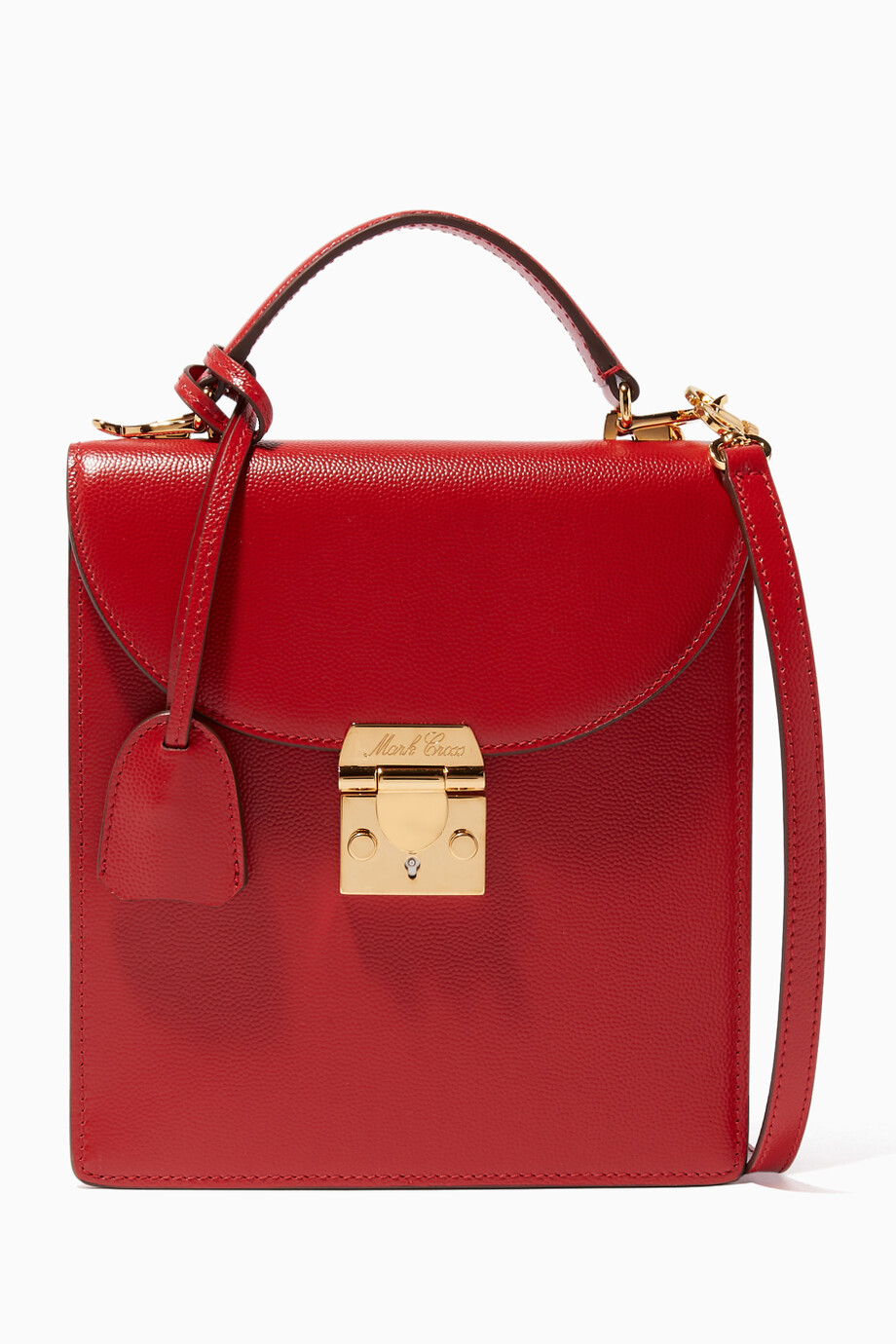 25810f581d45 Shop Mark Cross Red Red Uptown Top-Handle Bag for Women