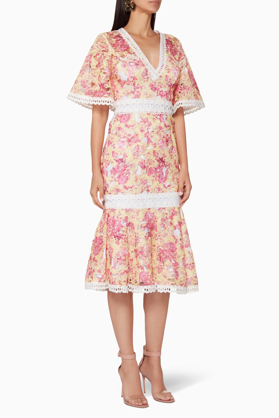 fa52073195 Shop La Maison Talulah Multicolour Multi-Coloured Vienna Midi Dress ...