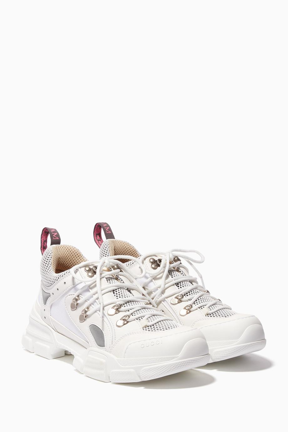 8da6b642efd Shop Gucci White White Flashtrek Sneakers for Women