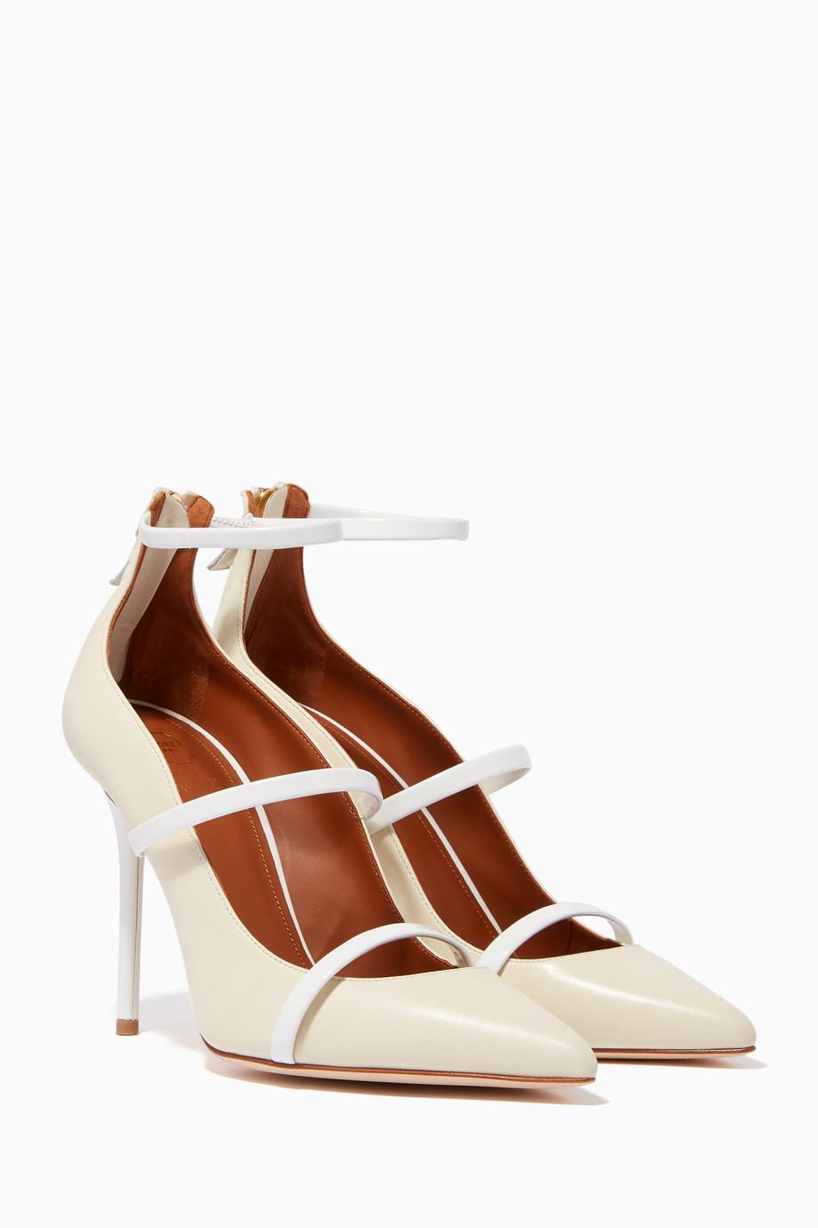 6d5041f13 تسوق حذاء كلاسيك روبين جلد أبيض كريمي Malone Souliers ابيض للنساء ...