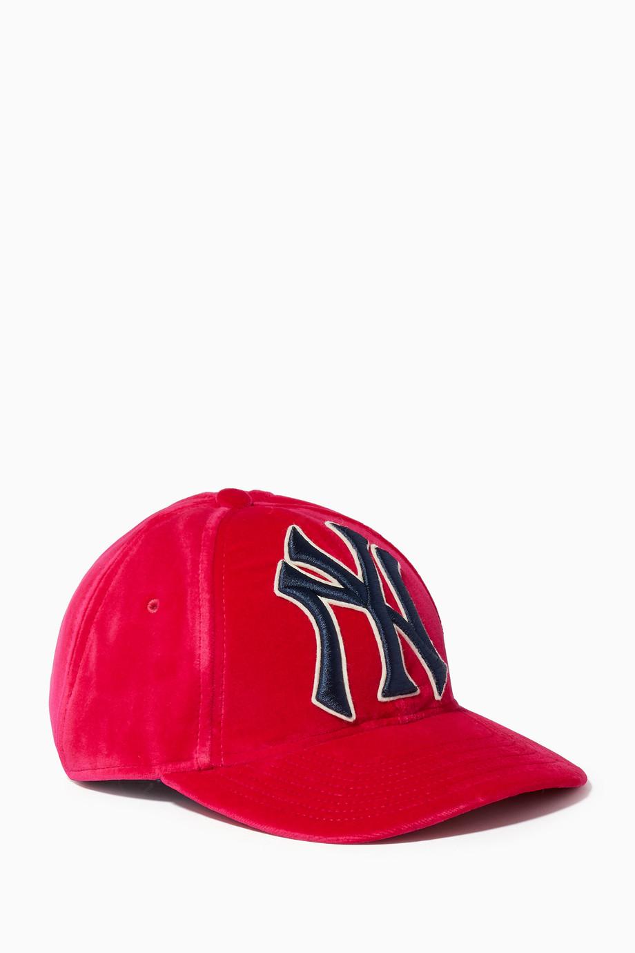dc47edace741d Shop Gucci Pink Fuchsia NY Yankees™ Baseball Hat for Women