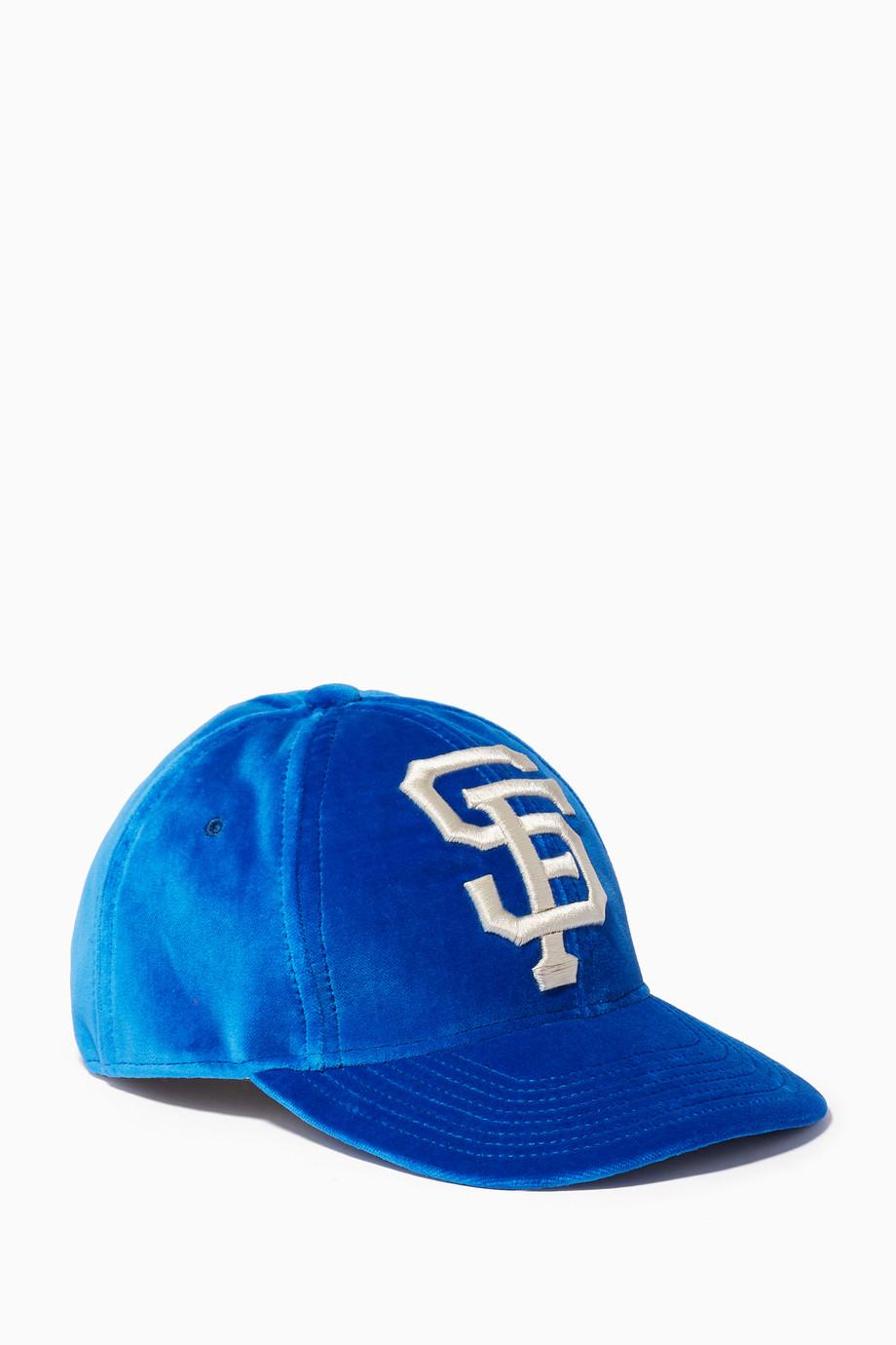 8080cc5a Shop Gucci Blue Blue San Francisco Giants™ Baseball Hat for Women ...