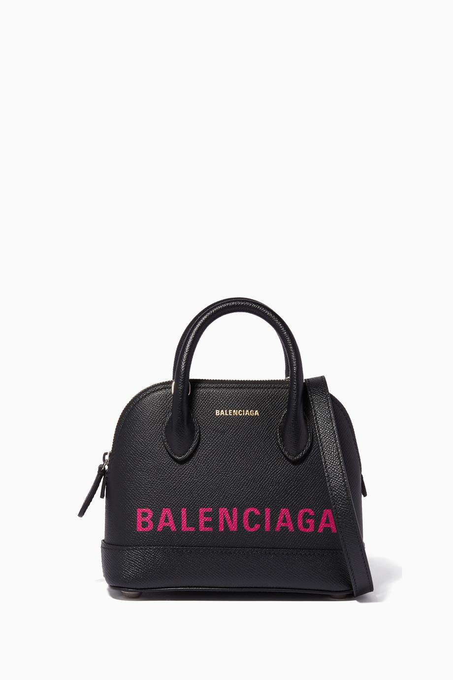 3910c18bb8 Shop Balenciaga Black Black Nano Ville Top-Handle Bag for Women ...