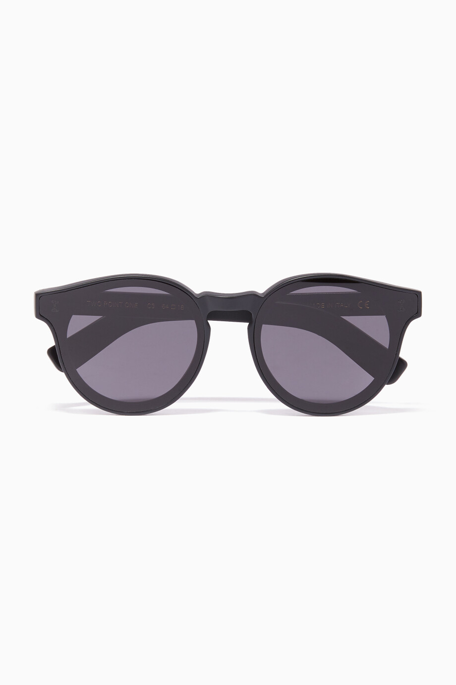 5a87d40aaf00 Shop Illesteva Black Black Two Point One Round-Frame Sunglasses for ...