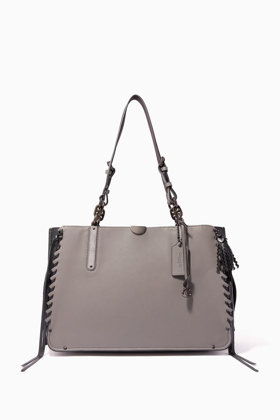 4781b17d20de6c Shop Coach Grey Heather-Grey Whipstitch Dreamer 36 Tote Bag for ...