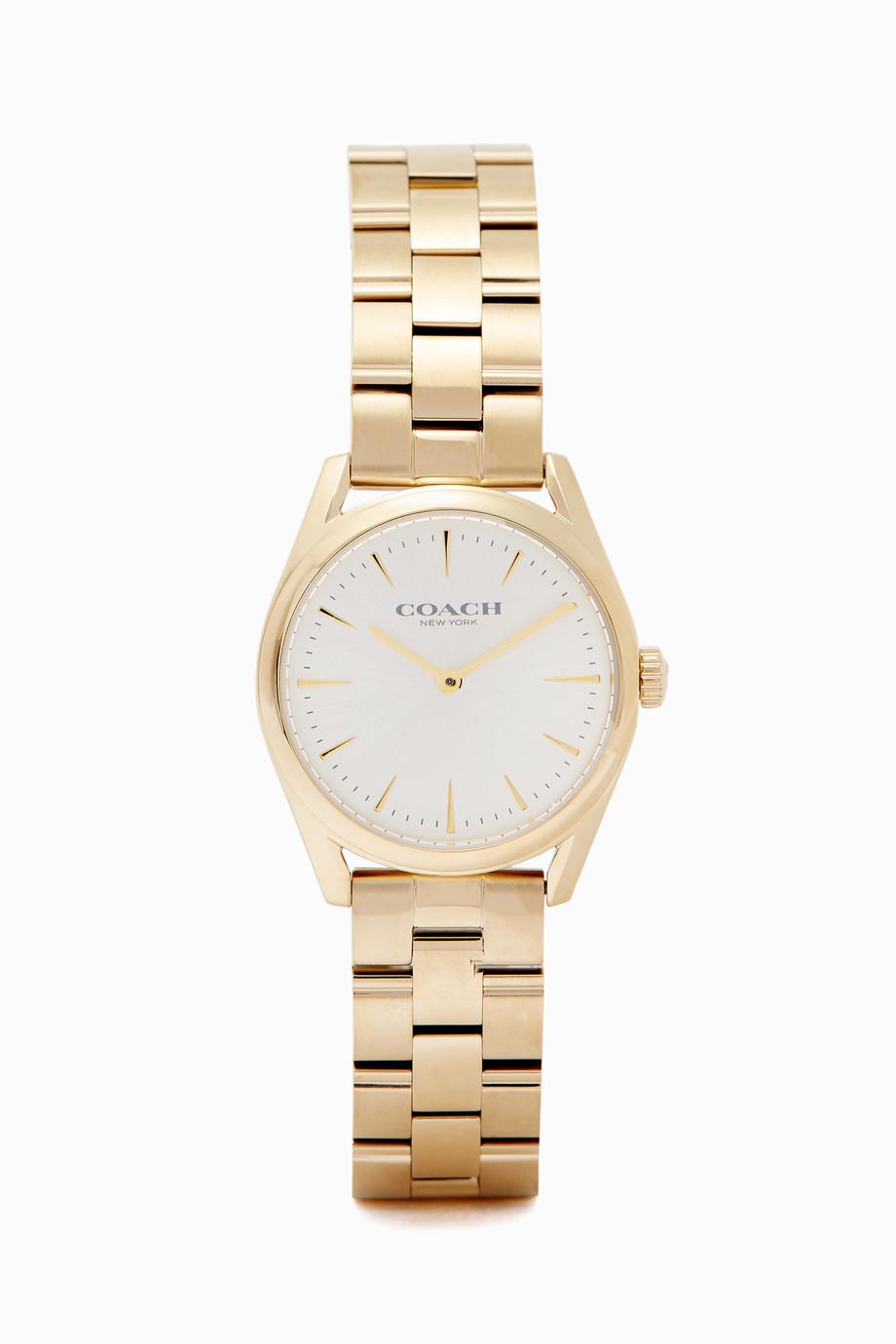 dbf5e9363 تسوق ساعة مودرن لاكجري ذهبية Coach ذهبي للنساء | اُناس الامارات