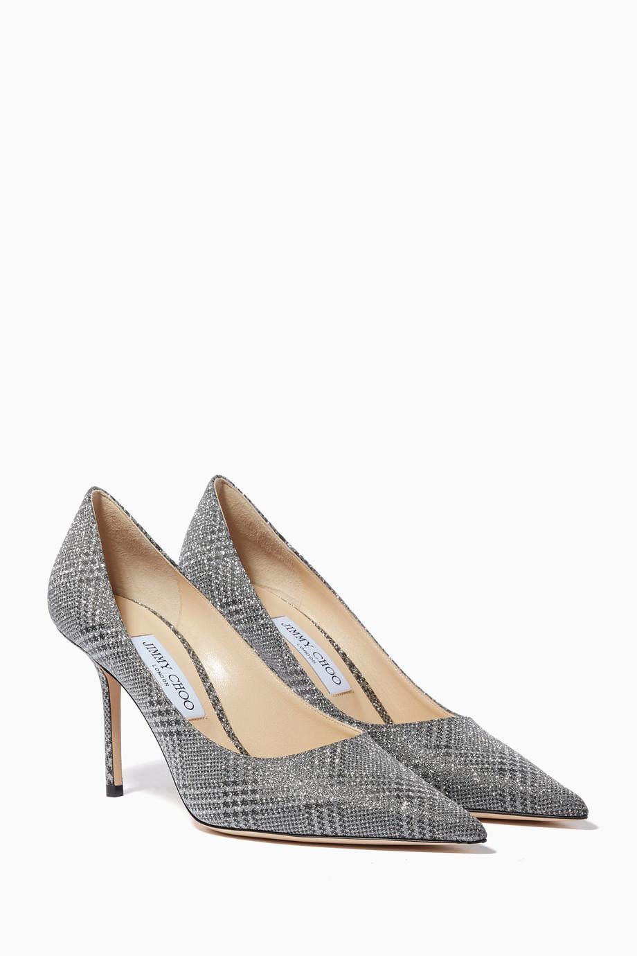 6bf99cc28 تسوق حذاء كلاسيك لاف بنقشة مربعات فضي جيمي تشو فضي للنساء | اُناس ...
