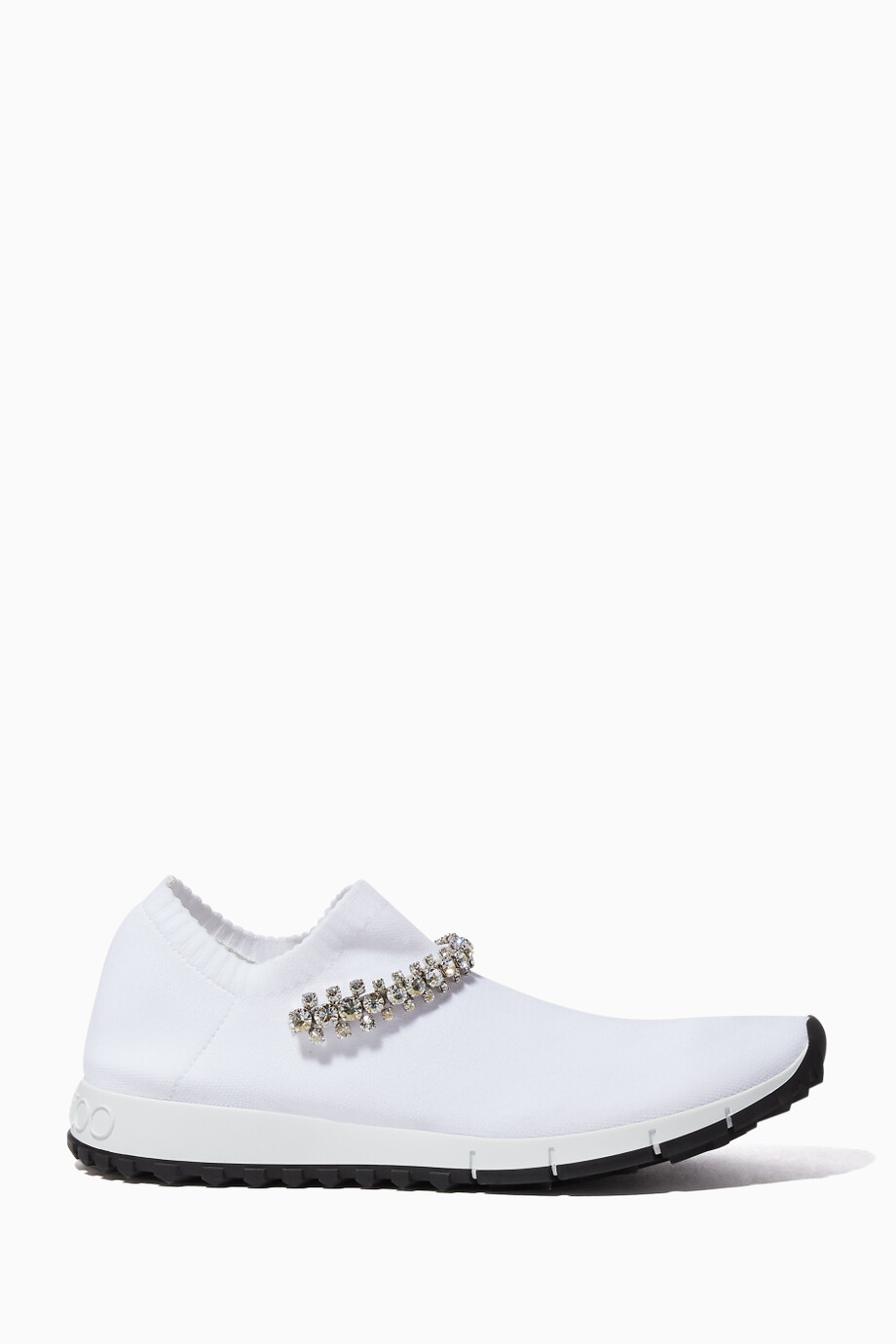 0635f2aaf741 Shop Jimmy Choo White White Verona Knit Sneakers for Women