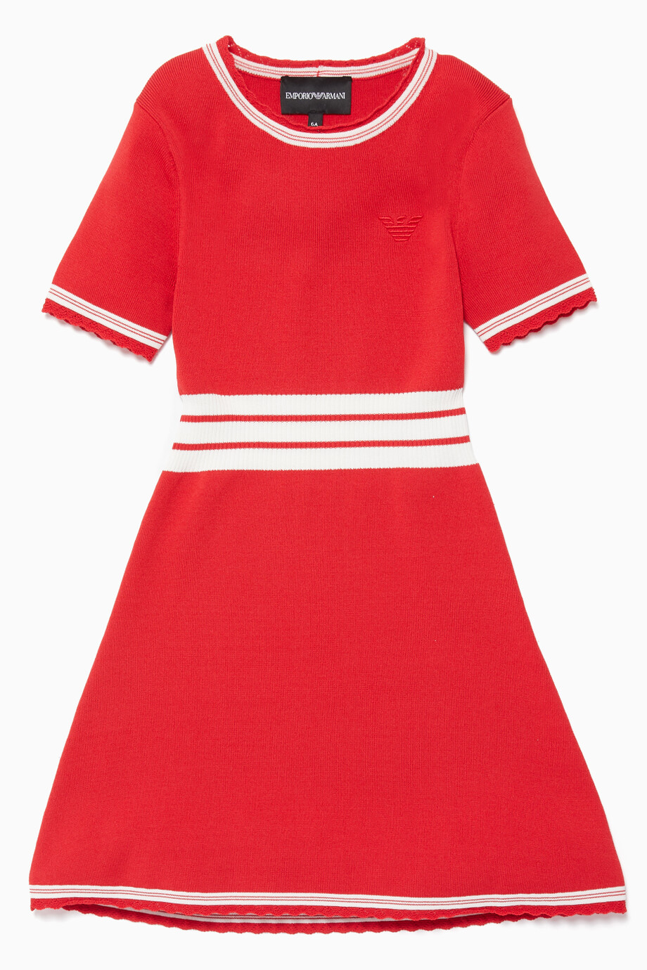 2f95d6c2effc Shop Emporio Armani Red Red Contrast Stripe Dress for Kids