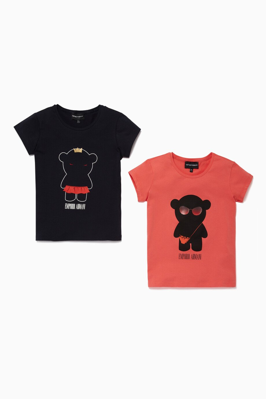 a6b83b258b Shop Emporio Armani Blue Black & Pink Teddy Bear T-Shirt, Set Of 2 ...