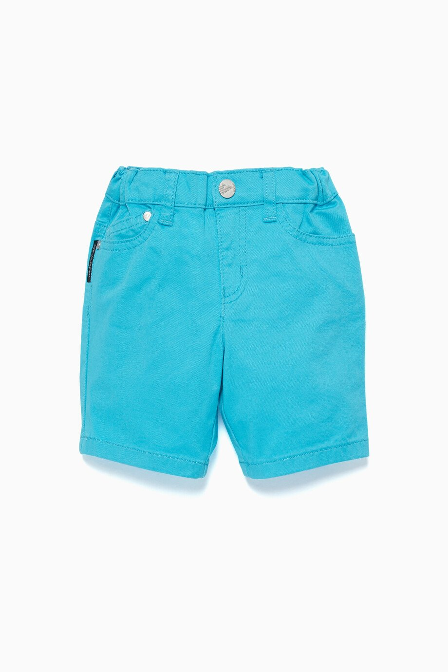 4b5de8d9c Shop Emporio Armani Blue Turquoise Cotton Shorts for Kids | Ounass