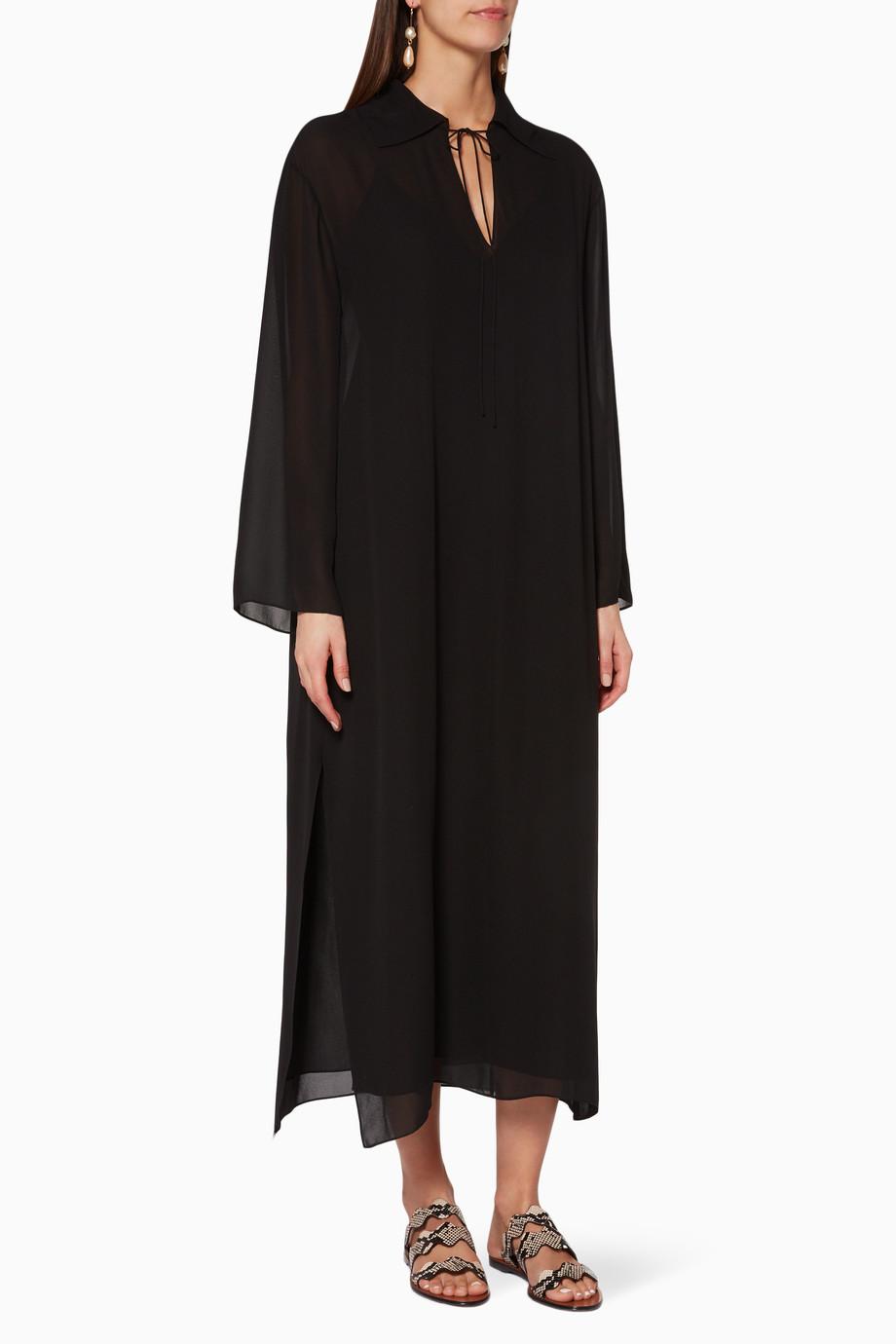 af8542a059c10 Shop Theory Black Black Silk Sailor Kaftan for Women