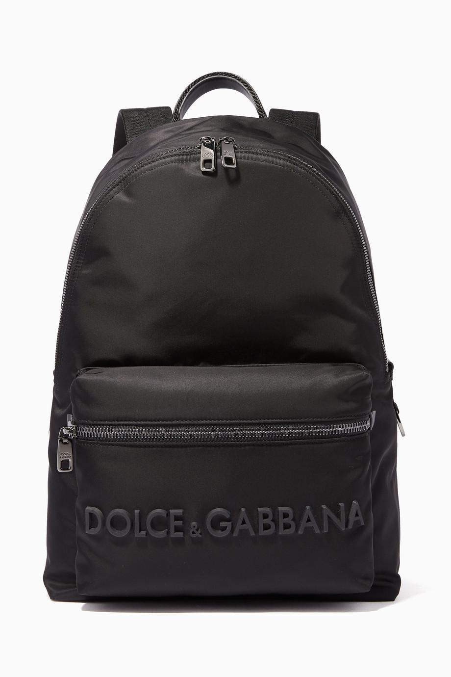 fbd716949 تسوق حقيبة نايلون بشعار بارز أسود دولتشي اند غابانا أسود للرجال ...