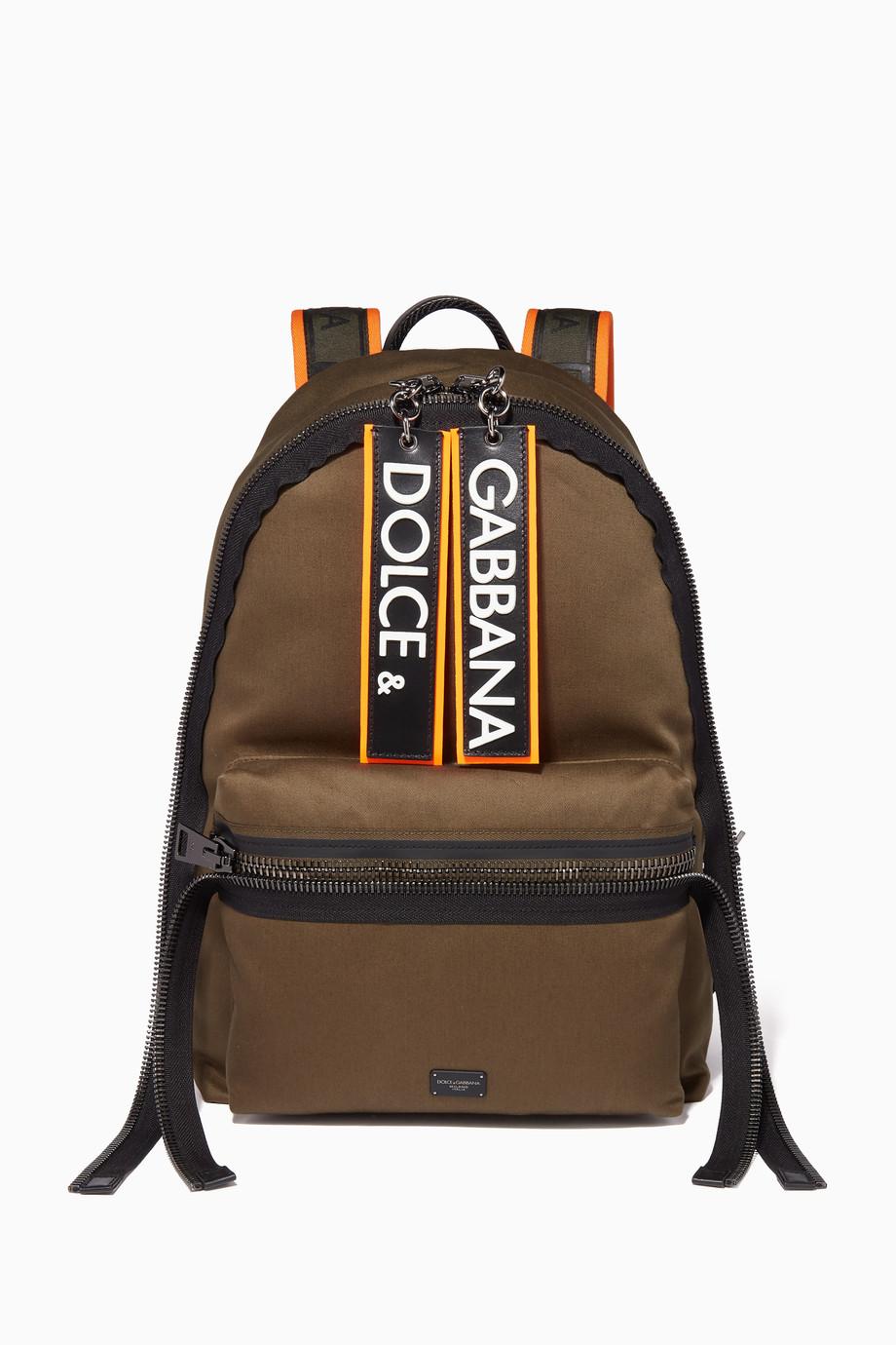 152c6416d6 Shop Dolce & Gabbana Green Dark Green Canvas Tape Backpack for Men ...