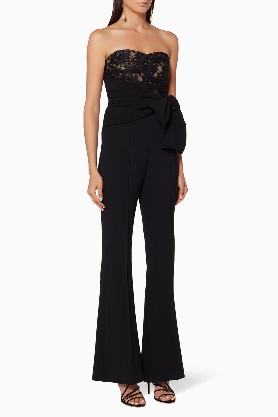 ef9412ca689 Shop Rebecca Vallance Black Black Strapless Betty Jumpsuit for Women ...