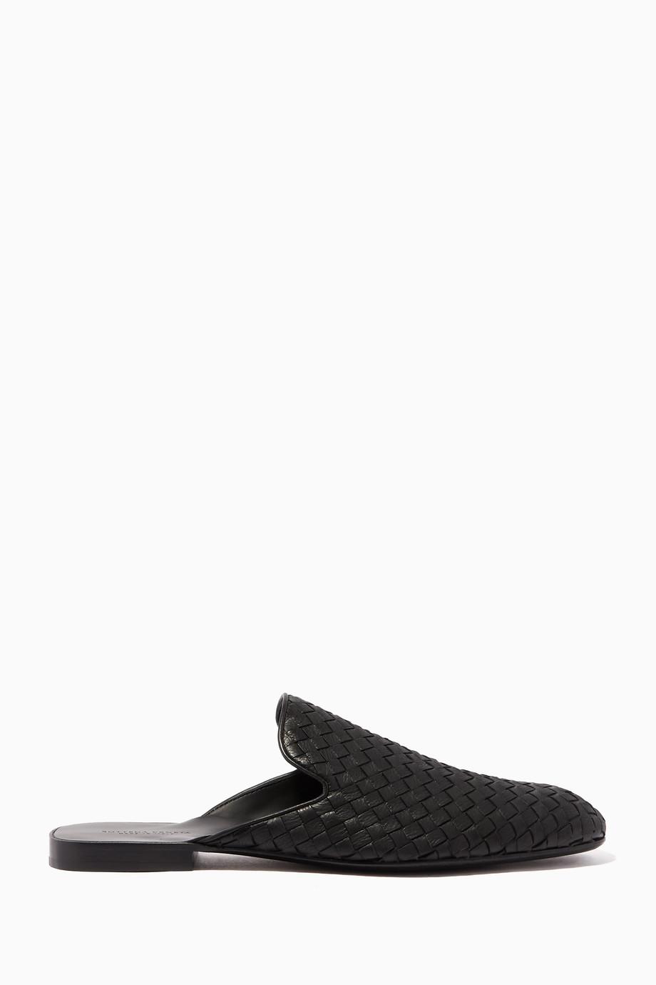 e67905418299 Black Intrecciato Slippers Black Intrecciato Slippers Black Intrecciato  Slippers Black Intrecciato Slippers. Bottega Veneta