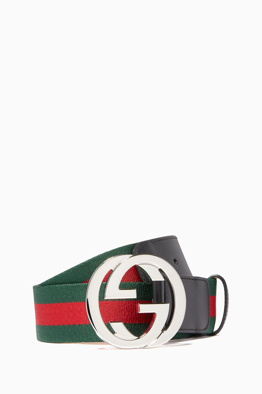 33d22ae82 SHOP GUCCI · MenAccessoriesBeltsCasual Belts. Green & Red Leather-Trimmed  Web ...