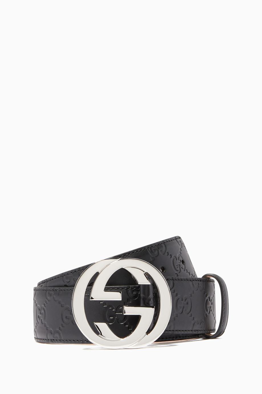 337a192a0 Black Signature Leather Belt Black Signature Leather Belt Black Signature  Leather Belt. Gucci