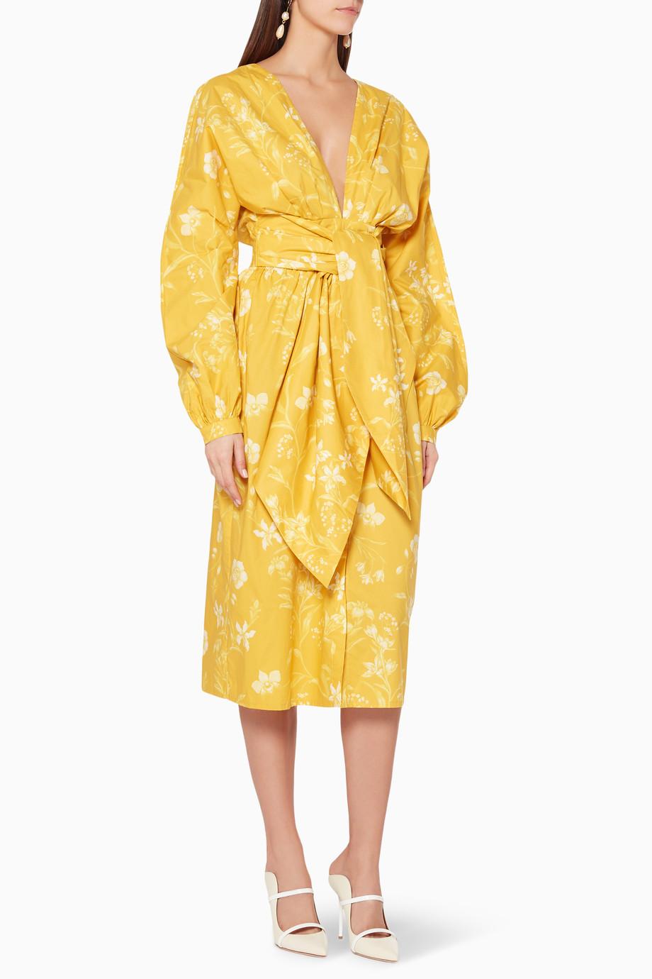 23c00e627fd Shop Johanna Ortiz Yellow Yellow San Bernardo Del Viento Dress for ...