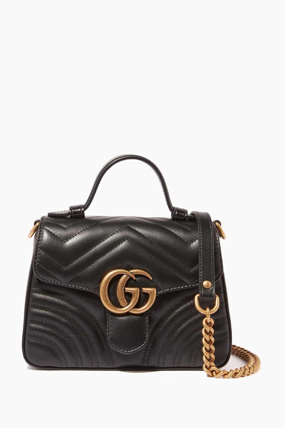 3b3b6b0dd Shop Gucci Black GG Marmont 2.0 Mini Bag for Women | Ounass Kuwait