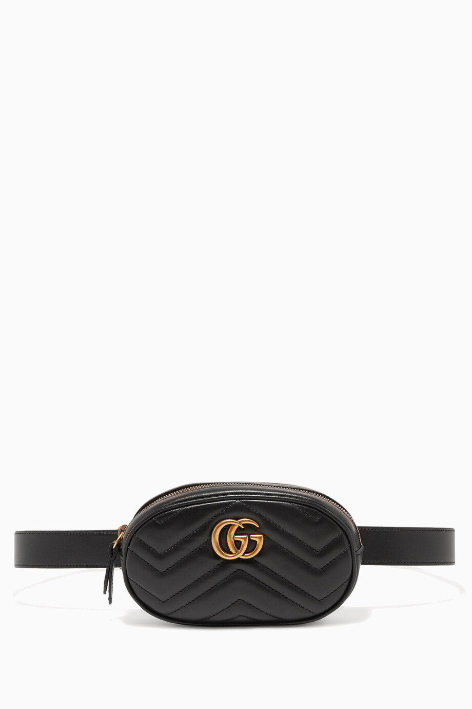 dc99651d157e0f Shop Gucci Black Black Marmont Matelassé Leather Belt Bag for Women ...