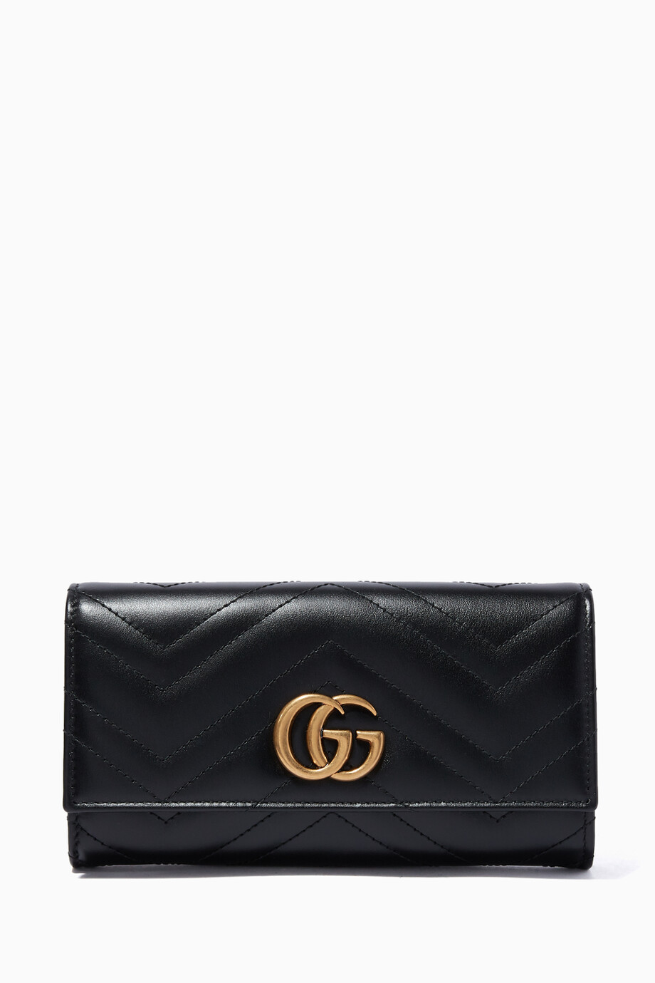 dd0c001b5ca2 Shop Gucci Black Black GG Marmont Continental Wallet for Women ...