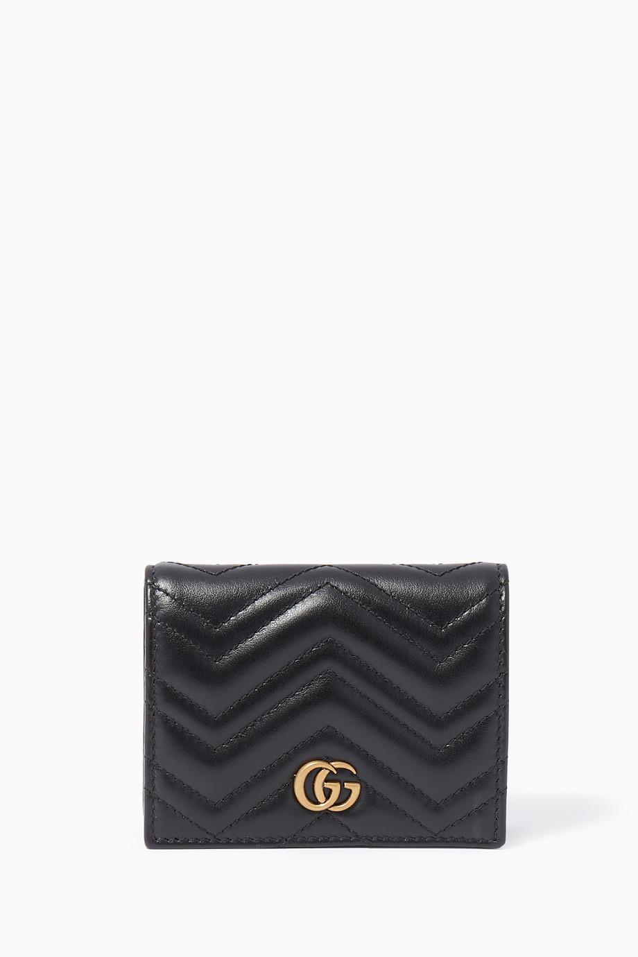 2b940ff00c3f69 Shop Gucci Black Black GG Marmont Matelassé Wallet for Women ...