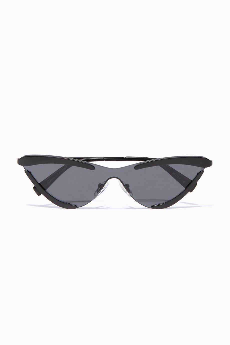 327276a0d3 Shop Le Specs Black Black Le Specs X Adam Selman The Scandal Sunglasses for  Women